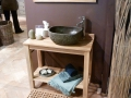 river stone wash basin bathroom vanitty