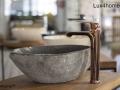 river stone wash basins bathroom - natural stone sinks