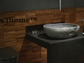 river stone wash basins bathroom - natural stone sinks