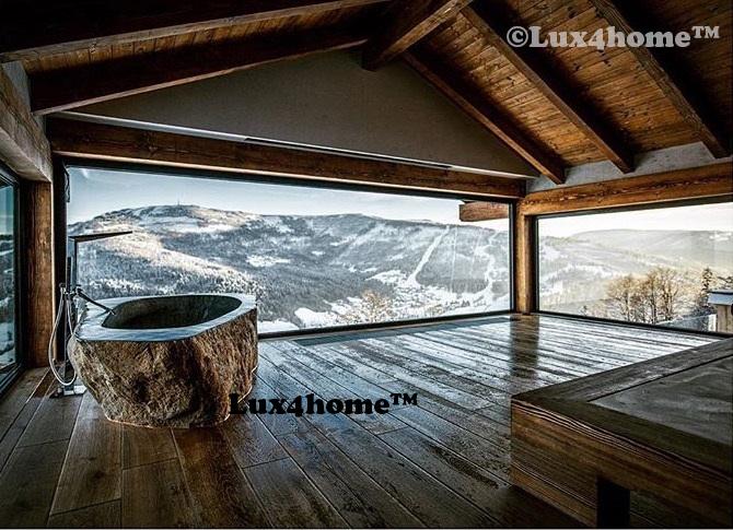 Stone bathtub - Stone tub - River stone bathtub