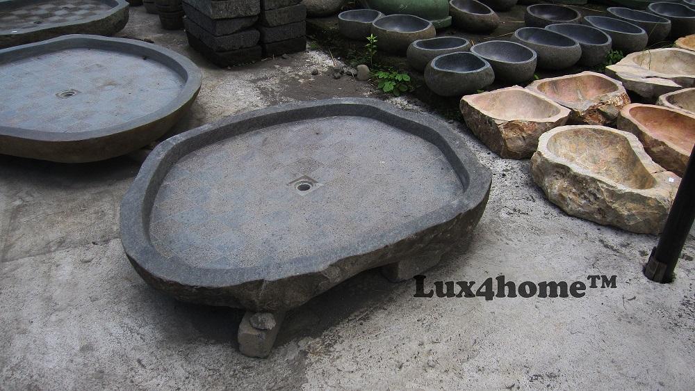 Stone showertray - river stone showertrays