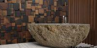 River Stone bathtubs - stone bathroom
