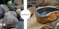 River Stone Bathtub Production