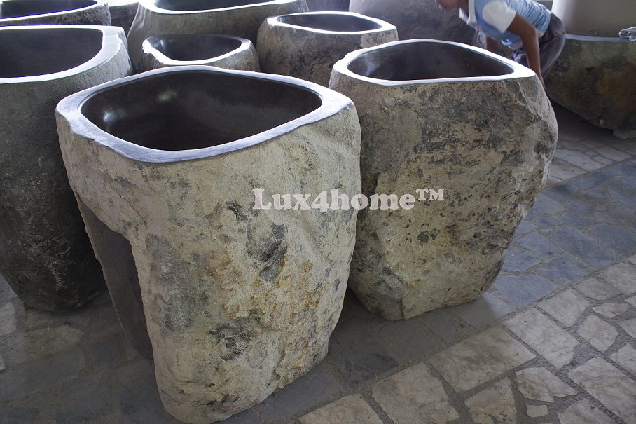Rock sinks manufacturer - River stone sinks producer