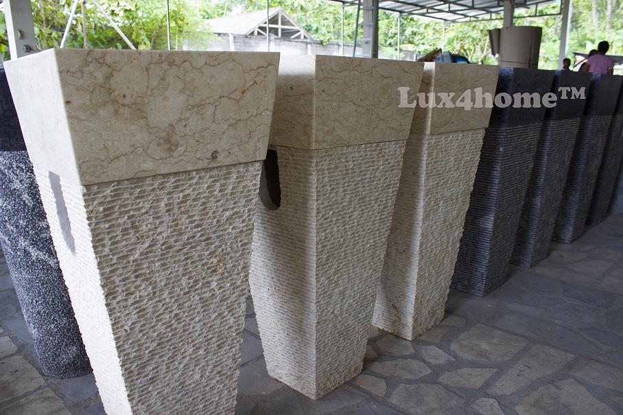 Stone Pedestal Sink Manufacturer - Pedestal stone sinks producer