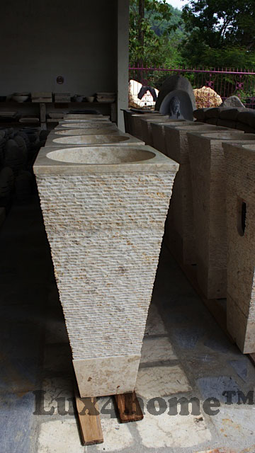 Pedestal marble sinks