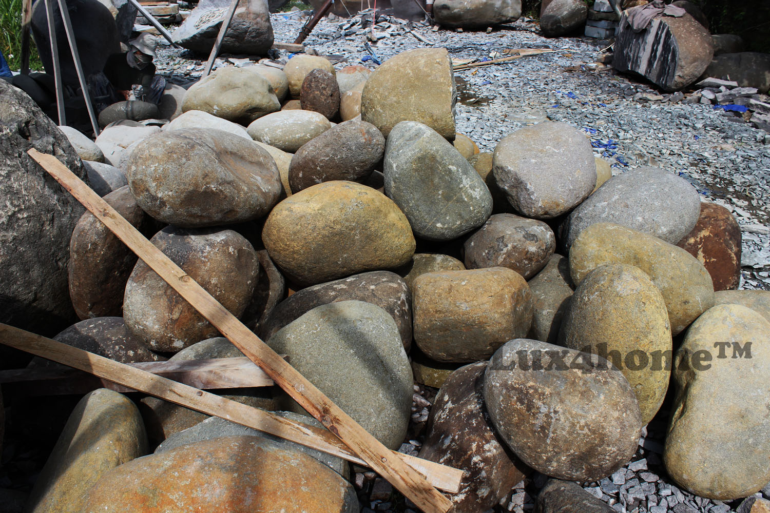 River stone sinks producer Indonesia