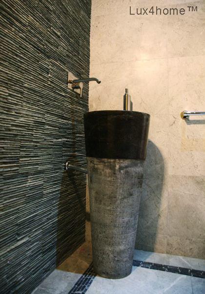 Standing Stone Sinks Wash Basins Pedestal Hammered