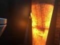 Illuminated Onyx sink - Pedestal stone sink