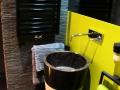 black stone pedestal sink