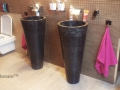black stone pedestal sinks - Freestanding Marble Sink