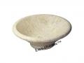 Round cream marble sink