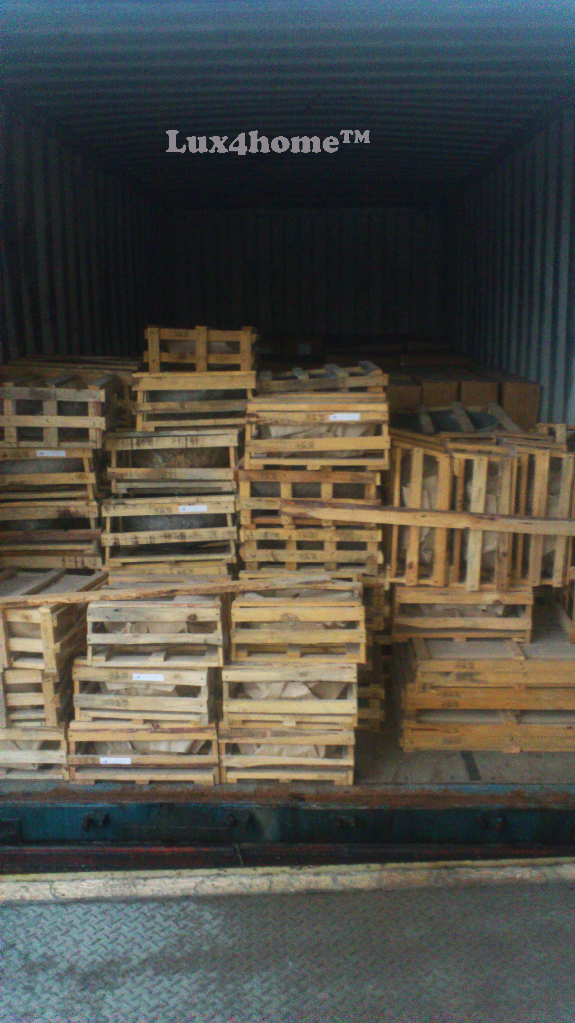 Stone sinks packaging - transport - export