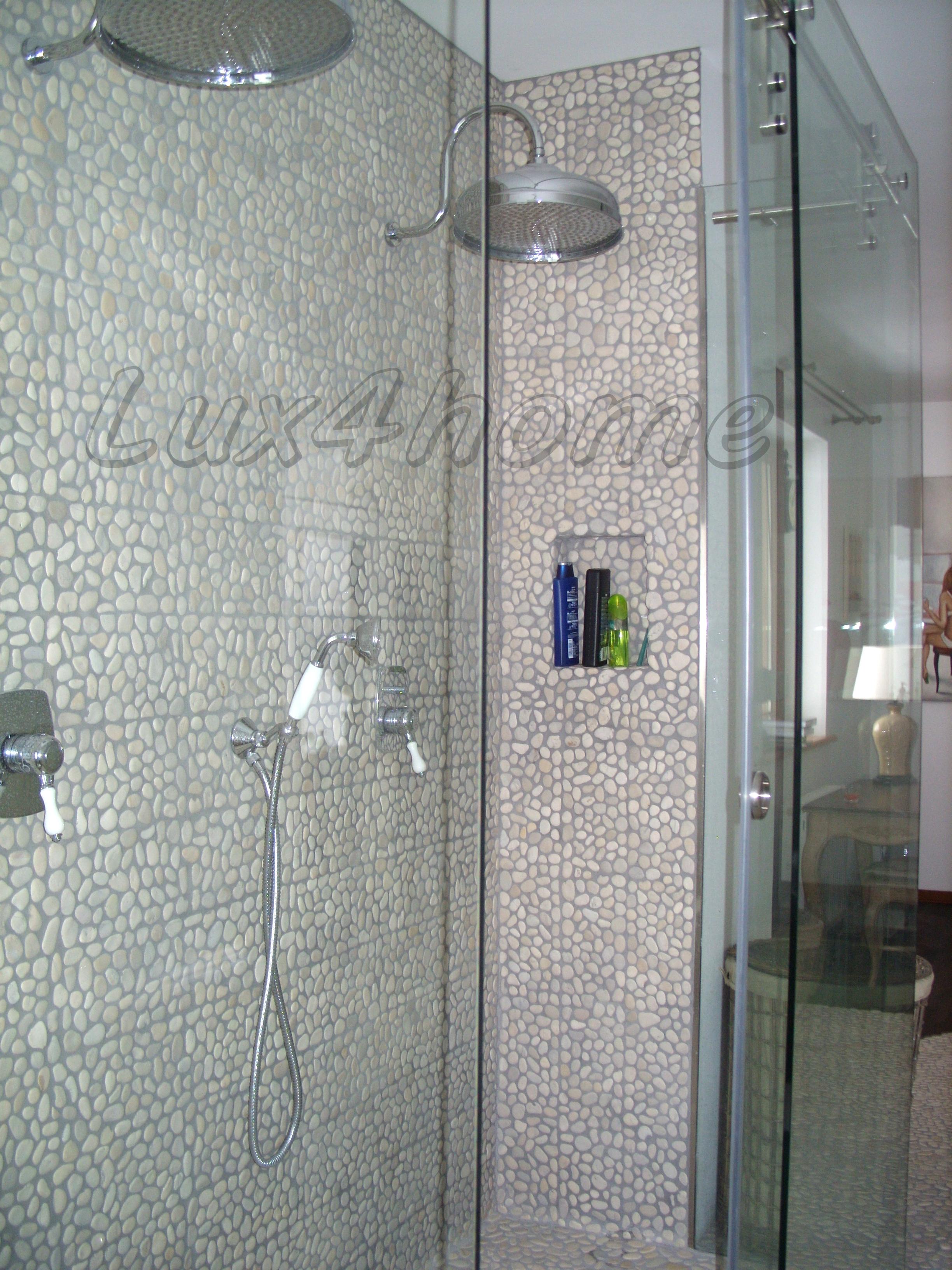 white pebble tiles mosaisc we produce pebble mosaics